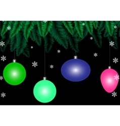 Christmas black background vector image vector image