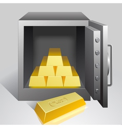 Safe with gold vector