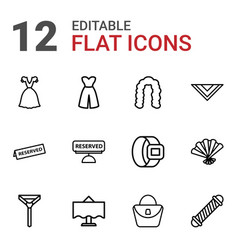 12 elegance icons vector