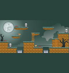 2d tileset platform game 16 vector