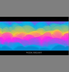 Abstract neon dreams background trendy vector