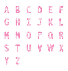 Abstract pink alphabets a to z 2 vector