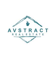 Abstract real estate logo design vector
