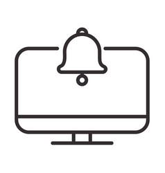 Alert icon computer notification bell message vector