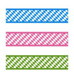 Bavarian ribbons vector image