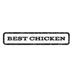 Best chicken watermark stamp vector