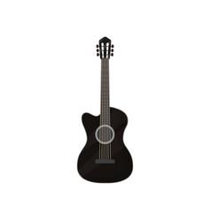 black electric guitar musical instrument vector image