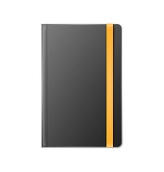 Blank realistic template notebook vector