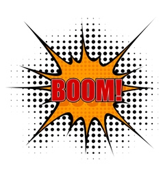 Cartoon boom vector image