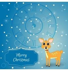 Christmas - card with chimes and deer Suitable as vector