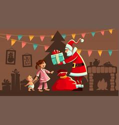 christmas holiday santa claus vector image
