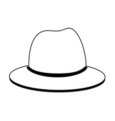 Classic hat icon image vector