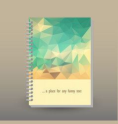 Cover of diary or notebook vintage blue beige vector
