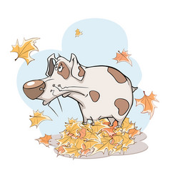 Cute dog vector