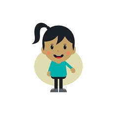 cute girl cartoon character vector image