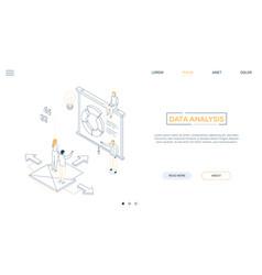 Data analysis - line design style isometric web vector
