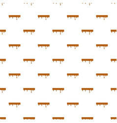 Dripping down caramel pattern vector