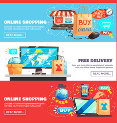 e-commerce banners collection vector image