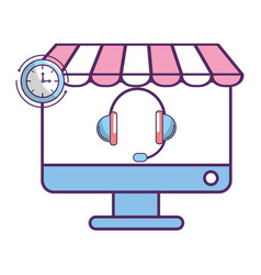 ecommerce online shopping cartoon vector image