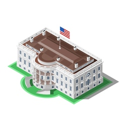 Election Infographic Us White House Isometric vector
