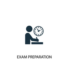exam preparation icon simple element vector image