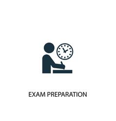 Exam preparation icon simple element vector