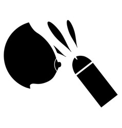 Female breast sperm ejaculation flat icon vector