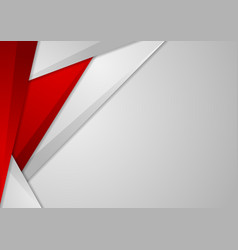 Grey and red tech corporate abstract background vector