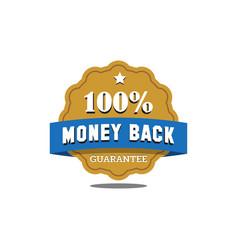 Guarantee badge seal stamp vector