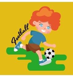 Happy child portrait in sportswear joggling ball vector