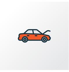 Hood colorful outline symbol premium quality vector