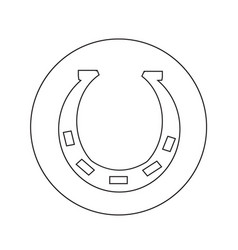 horseshoe icon design vector image