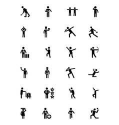 Human Icons 8 vector image