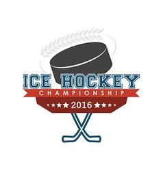 Ice hockey championship emblem vector