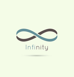 Infinity sign from colored stripes tape vector