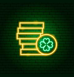 irish gold neon sign vector image