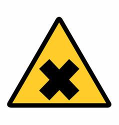 Irritant hazard sign vector