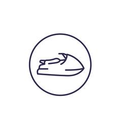 jet ski line icon on white vector image