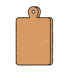 Kitchen board wooden icon vector