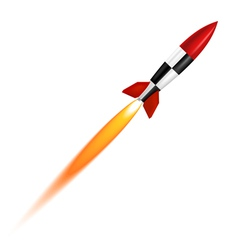 Launch of a white background vector