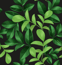Leaf pattern background vector