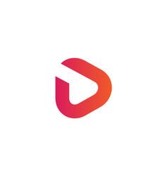 Letter d creative logo template vector