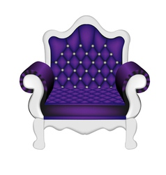 Luxury Violet Chair vector