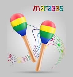 maracas musical instruments stock vector image