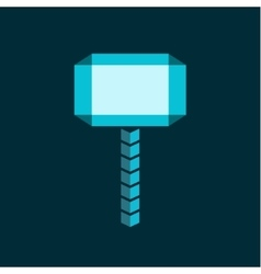 Molot hammer abstract flat style of vector image