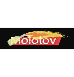 Molotov grunge scratched logo on black vector