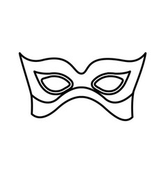 Monochrome silhouette with elegant venetian mask vector