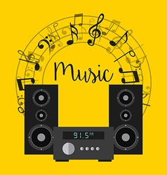 musical concept vector image