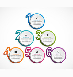 numeric infographic template infographics vector image