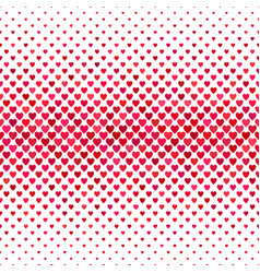 Red heart pattern background - love concept vector